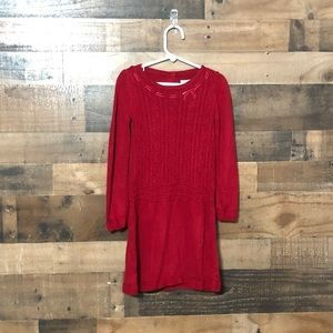 Janie and Jack Red Sweater Dress Long Sleeves 4